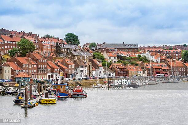 View of Whitby harbour and town