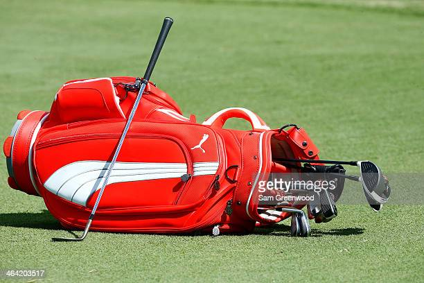 A view of Will Mackenzie's golf bag during a practice round prior to the Sony Open in Hawaii at Waialae Country Club on January 7 2014 in Honolulu...