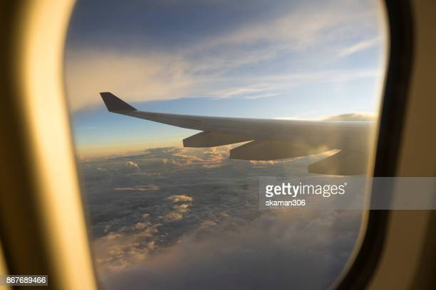 view of window seat on board of airplane