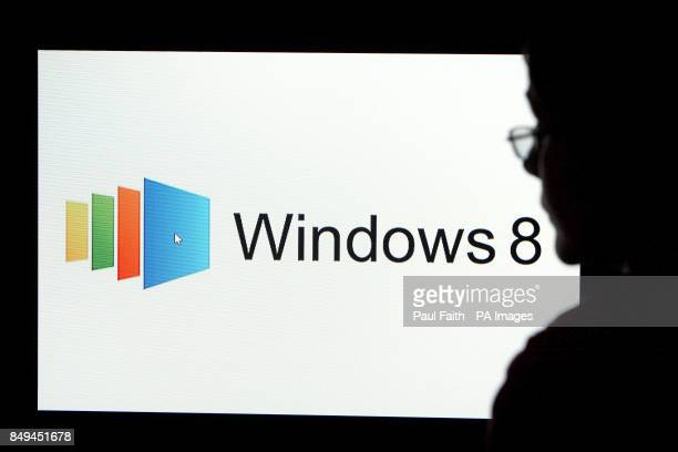 View of Windows 8 in use, a version of the Microsoft Windows operating system,