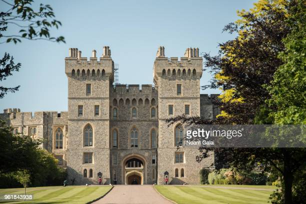 A view of Windsor Castle during the wedding of Prince Harry to Ms Meghan Markle on May 19 2018 in Windsor England Prince Henry Charles Albert David...