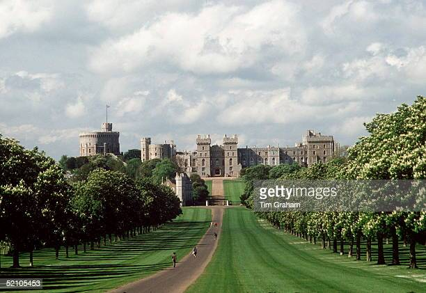 View Of Windsor Castle One Of The Queen's Official Residences Taken From The Long Drive In Windsor Great Parkcirca 1990s