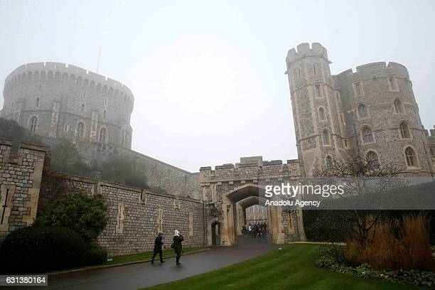 A view of Windsor Castle which is still one of the main official residences of royal family among Buckingham Palace and Holyrood Palace is seen in...