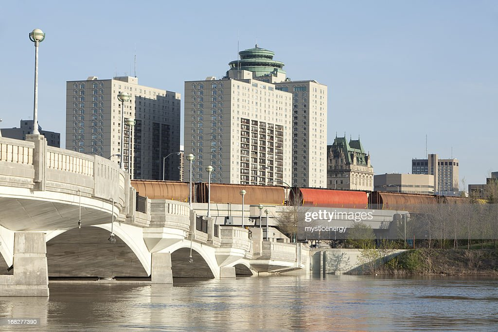 A view of Winnipeg during the daytime : Stock Photo