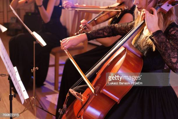 View Of Women Playing String Instruments