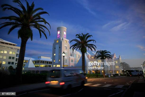 A view of Woodburne Avenue at dusk November 8 2017 in Hamilton Bermuda A series of leaks made public by the International Consortium of Investigative...