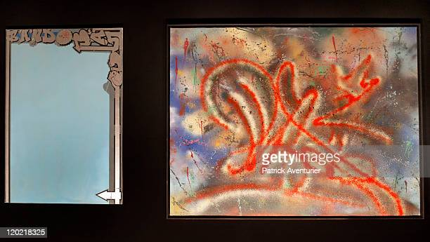 View of works of art by artist Phase 2 on display at The Birth of Pressionism exhibition on August 12011 in Monaco This major exhibit at the Grimaldi...