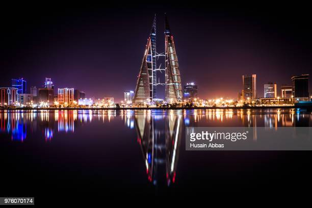 View of world trade center and skyline, Manama, Bahrain