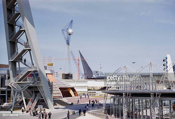 View of World's Fair in Brussels April 1958