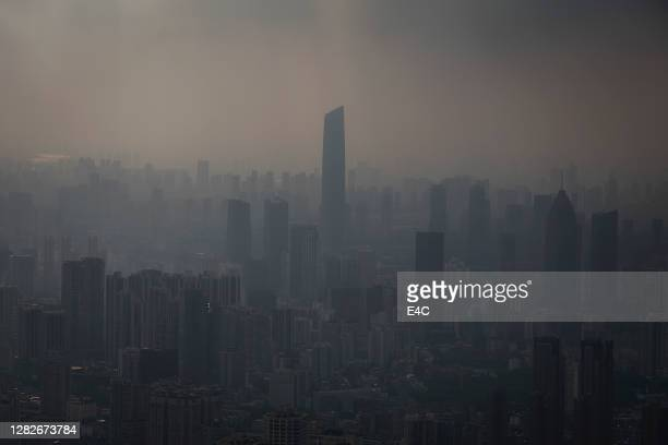 view of wuhan, china, skyline - hubei province stock pictures, royalty-free photos & images