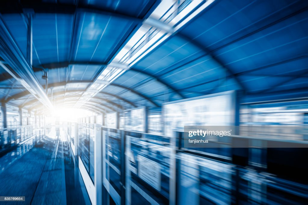 view of wuxi metro in blue tone ストックフォト getty images