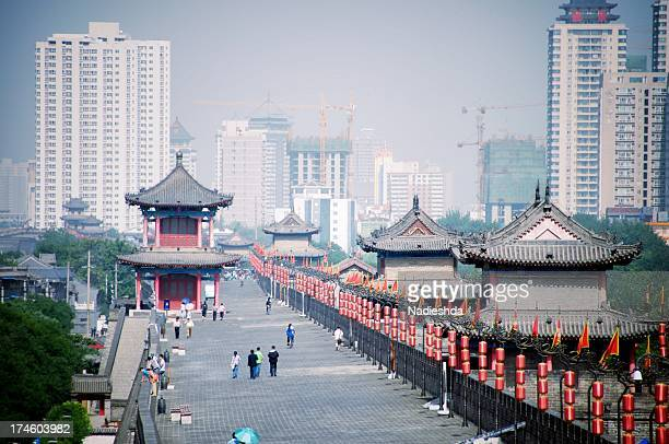 View of Xi'an city wall
