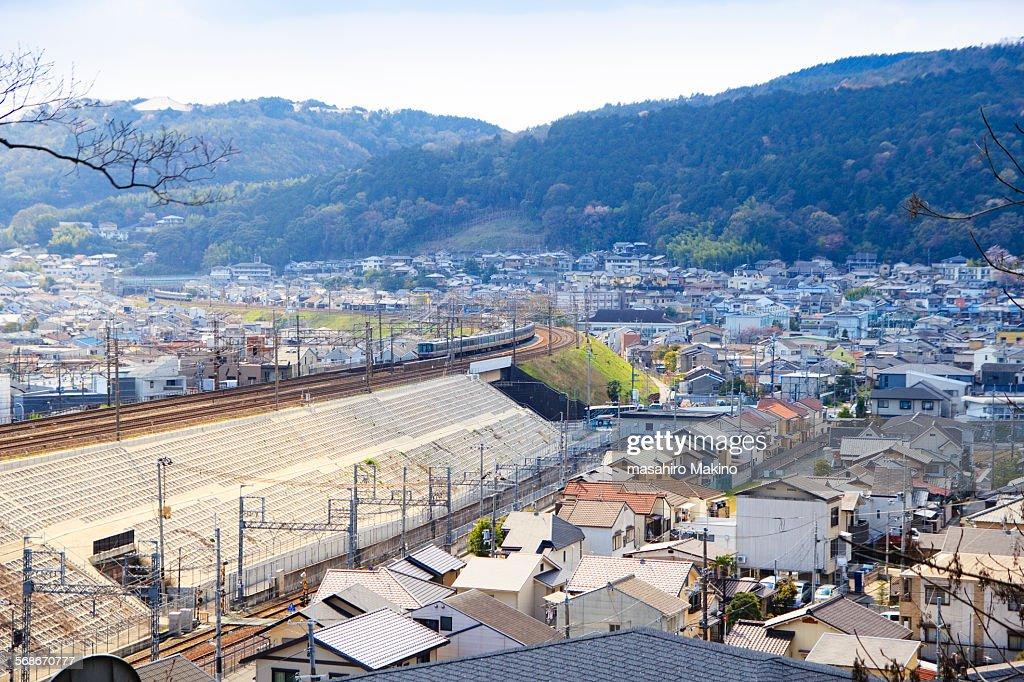 View of Yamashina Ward, Kyoto City : Stock Photo