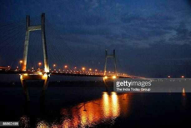 View of Yamuna Bridge at Allahabad in Uttar Pradesh, India