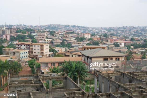View of Yaounde, the capital of Cameroon, on Nov. 14. Since late 2016, Cameroon has seen a rise in civil unrest, and human rights activists say the...