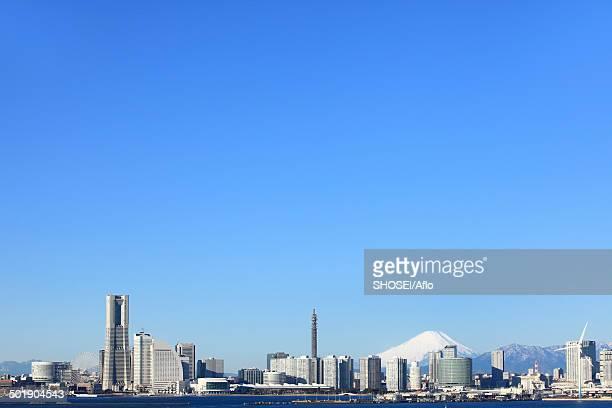 view of yokohama, kanagawa prefecture, japan - yokohama stock pictures, royalty-free photos & images