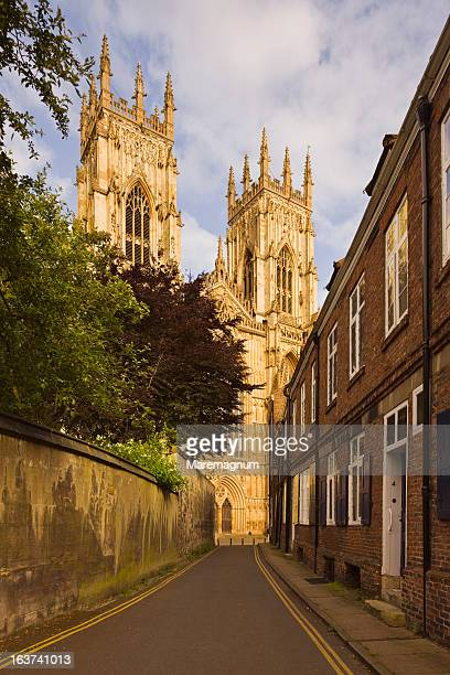view of york minster (cathedral) - york minster stock photos and pictures