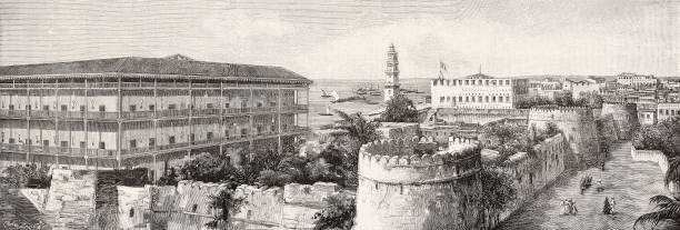 View of Zanzibar with the Sultan's palace Tanzania photograph by AC Gomes from L'Illustrazione Italiana Year XXIII No 36 September 6 1896