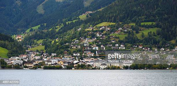 View of Zell am See on August 24 in Zell am See Austria The town is an important tourist destination known as Zell am SeeKaprun Photo by Thomas...