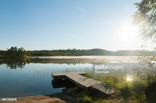 View on a lake in Eastern Finland