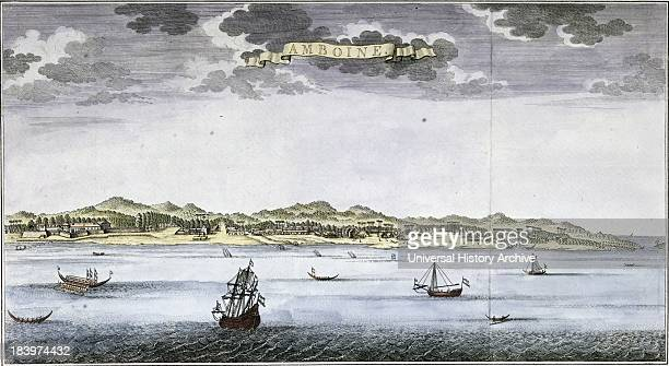 View On Ambon Mid 18th Century Map By Jan Van Schley