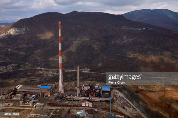 View on an abandonned factory seen from the fortress of Zvecan on February 20 2017 in Zvecan Kosovo The new US Trump administration reaffirmed its...