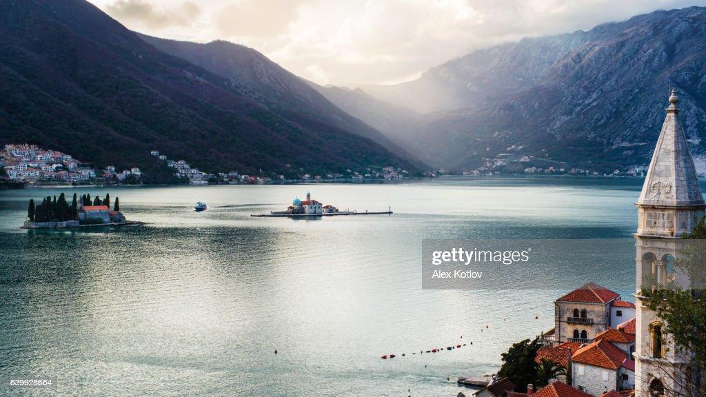 View on bay of Kotor, Montenegro : Stock-Foto