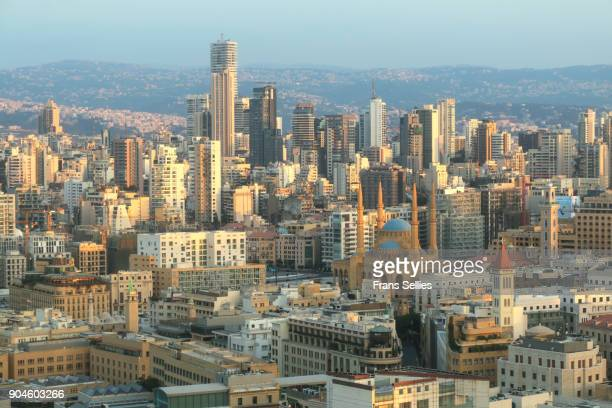 view on beirut, lebanon - beirut stock pictures, royalty-free photos & images
