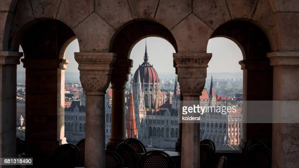View on Budapest Parliament from Fisherman bastion