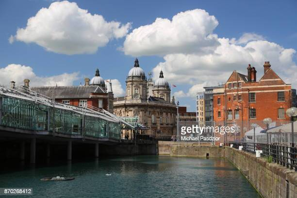 view on buildings in the city - kingston upon hull stock pictures, royalty-free photos & images