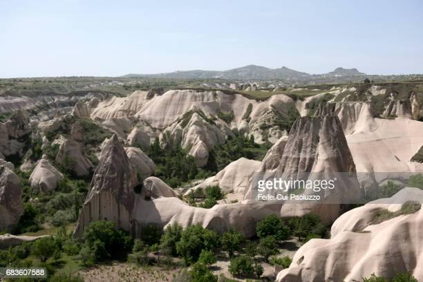 View on fairy chimney rock of Göreme, Turkey