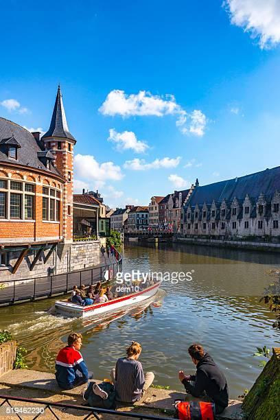 View on Graslei, Ghent