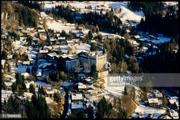 View on Gstaad with hotel Palace