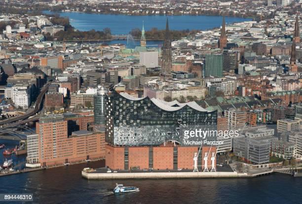 view on Hamburg with Elbphilharmonie