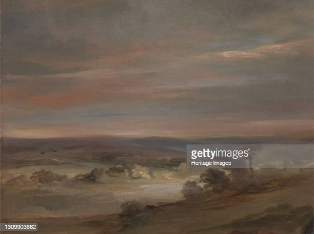 View on Hampstead Heath, Early Morning;A View on Hampstead Heath, Early Morning ;Hampstead Heath, Morning, ca. 1821. Artist John Constable. .