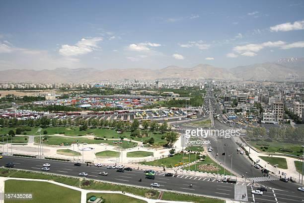Blick auf den highway in Teheran Iran