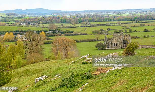 View on Hore Abbey ruins from the Rock of Cashel, Cashel, Tipperary, Ireland