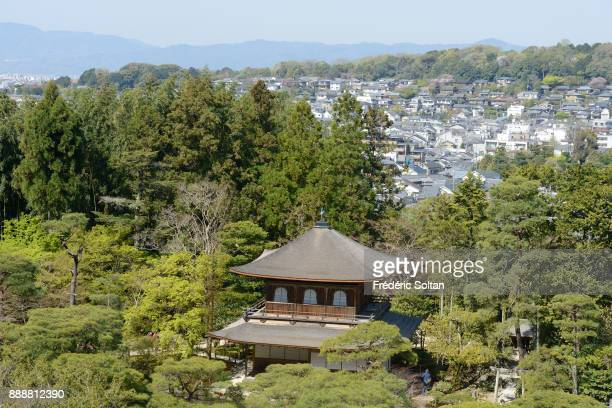 View on Kyoto from one of the most breathtaking temples is the 14thcentury Ginkakuji on March 28 2015 in Kyoto Japan