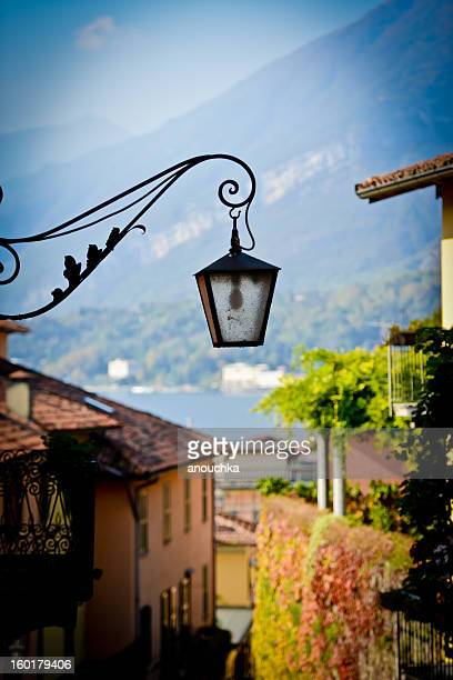 view on lake como from bellagio, italy - bellagio stock pictures, royalty-free photos & images