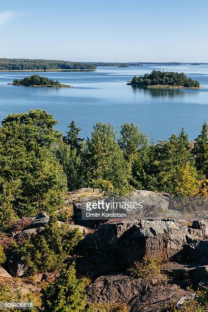 View on Åland islands from ruins of fortress Bomarsund