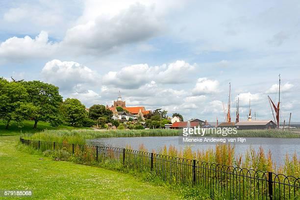 View on Maldon on River Chelmer, Essex County, England, Great Britain, United Kingdom