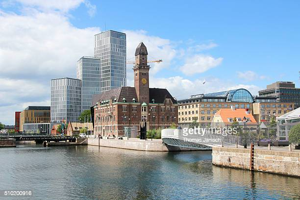 View on Malmö's skyline and harbour