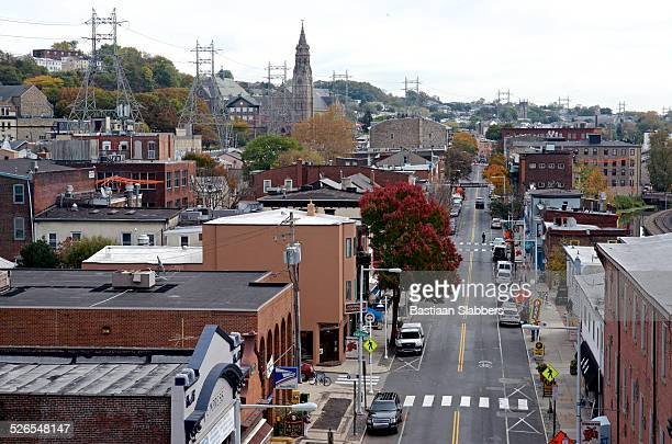 View on Manayunk Main Street in Philadelphia