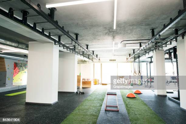 Blick auf moderne Crossfit Gym.