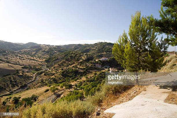 view on mountains over roseto capo spulico, calabria, italy. - calabria stock pictures, royalty-free photos & images