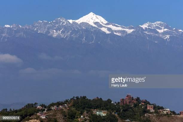 View on Nagarkot and mountains of the Himalayas, Nagarkot, Nepal