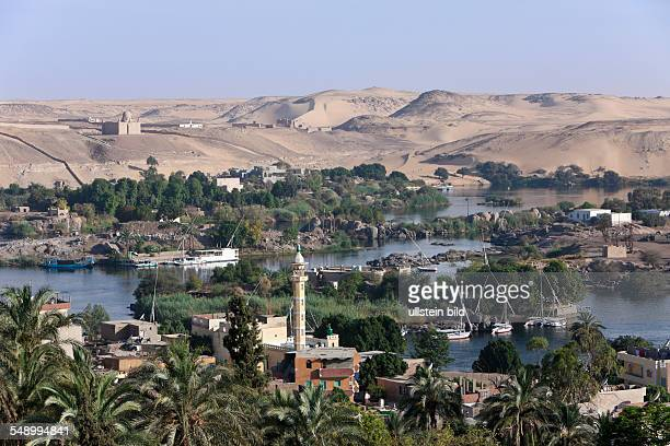 View on Nile River Landscape of Aswan Aswan Egypt