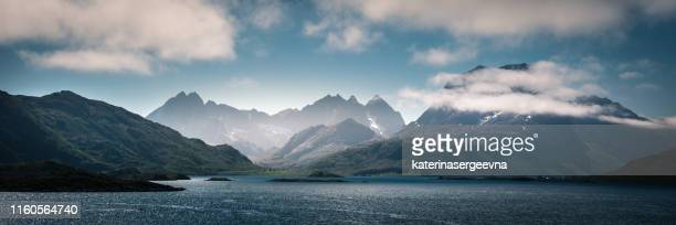 view on norwegian rocky coastline - seascape stock pictures, royalty-free photos & images