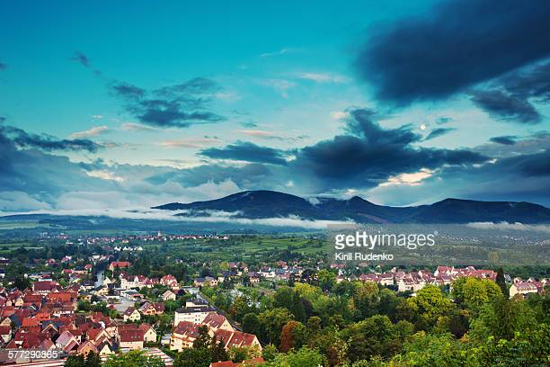 View on Obernai and Vosges Mountains