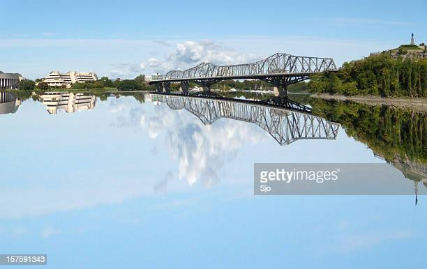 view on ottawa river - gatineau stock pictures, royalty-free photos & images